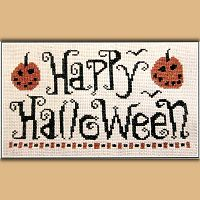 """Happy Halloween"" Cross Stitch Pattern"