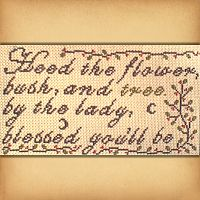 """Heed the Flower"" Cross Stitch Pattern"
