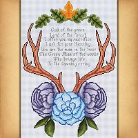 Horned God Cross Stitch Pattern