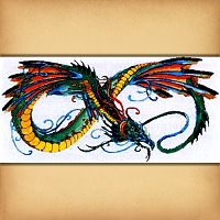 """Infinity Dragon"" Cross Stitch Pattern"