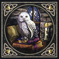 """Literary Owl"" Cross Stitch Pattern"