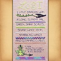 Lost Dragon Cross Stitch Sampler - Counted Cross Stitch Patterns - Celtic Patterns, Pagan Patterns, Fantasy Patterns and more, Here Be Dragons!