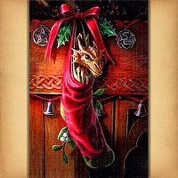 Magical Arrival Cross Stitch Pattern - Counted Cross-stitch Patterns - Celtic, Pagan, Wiccan, Goddess, Fantasy and more, Here Be Dragons!, Holiday Cross-stitch, Yule / Christmas