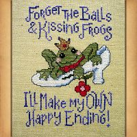 """I'll Make My Own Happy Ending"" Cross Stitch Pattern"