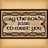"""May the Roads Rise to Meet You"" Cross Stitch Pattern - Counted Cross-stitch Patterns - Celtic, Pagan, Wiccan, Goddess, Fantasy and more"