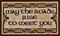"""May the Roads Rise to Meet You"" Cross Stitch Pattern - Counted Cross Stitch Patterns - Celtic Patterns, Pagan Patterns, Fantasy Patterns and more"