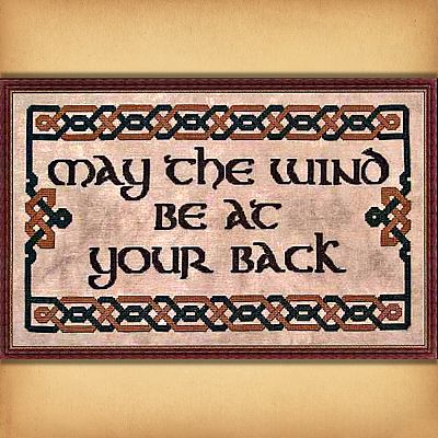 """May the Wind Be at Your Back"" Cross Stitch Pattern"