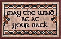 """May the Wind Be at Your Back"" Cross Stitch Pattern - Cross-stitch Patterns, Whispered"