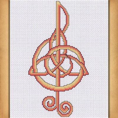 Music Cross Stitch Pattern Free Shipping On Orders Over