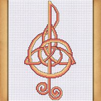 Music Cross Stitch Pattern