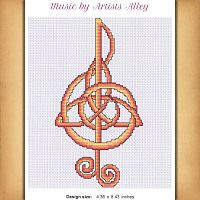 Music Cross Stitch Pattern - Counted Cross Stitch Patterns - Celtic Patterns, Pagan Patterns, Fantasy Patterns and more