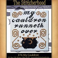 """My Cauldron"" Cross Stitch Pattern - Counted Cross Stitch Patterns - Celtic Patterns, Pagan Patterns, Fantasy Patterns and more"