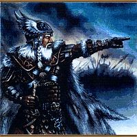 """Norse Recruit"" Cross Stitch Pattern - Counted Cross Stitch Patterns - Celtic Patterns, Pagan Patterns, Fantasy Patterns and more, Norse - Viking"