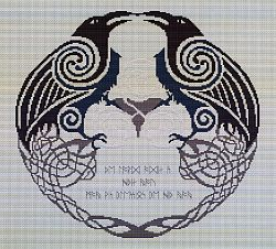 Odin's Ravens Cross Stitch Pattern