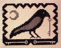 Olde Crow Cross Stitch Pattern