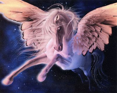 """Pegasus"" Cross Stitch Pattern - Counted Cross Stitch Patterns - Celtic Patterns, Pagan Patterns, Fantasy Patterns and more, Horses"