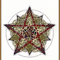 Pentacle Knot Cross Stitch Pattern