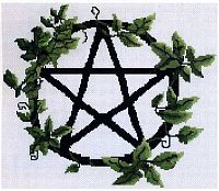 Pentacle Vines Cross Stitch Pattern