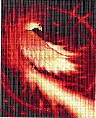 """Phoenix Flame"" Cross Stitch Pattern - Counted Cross Stitch Patterns - Celtic Patterns, Pagan Patterns, Fantasy Patterns and more"