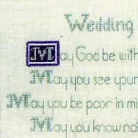 Celtic Wedding Blessing Cross Stitch Pattern