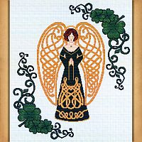 Celtic Shamrock Angel Cross Stitch Pattern