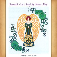 Celtic Shamrock Angel Cross Stitch Pattern - Counted Cross Stitch Patterns - Celtic Patterns, Pagan Patterns, Fantasy Patterns and more