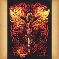 Flame Blade Dragon Cross Stitch Pattern
