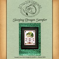 Sleeping Dragon Sampler Cross Stitch Pattern - Counted Cross Stitch Patterns - Celtic Patterns, Pagan Patterns, Fantasy Patterns and more, Here Be Dragons!