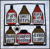 Spell Shelves Cross Stitch Pattern