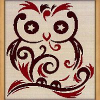 Starry Eyed Owl Cross Stitch Pattern