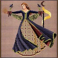 Dance of the Summer Solstice Cross Stitch Pattern - Counted Cross-stitch Patterns - Celtic, Pagan, Wiccan, Goddess, Fantasy and more, Wheel of the Year