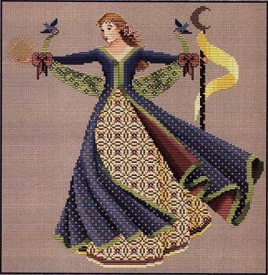 Dance of the Summer Solstice Cross Stitch Pattern - Counted Cross Stitch Patterns - Celtic Cross Stitch Patterns, Pagan Cross Stitch Patterns, Fantasy Cross Stitch Patterns and more, Wheel of the Year