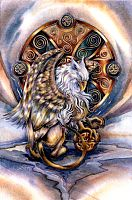 Courage Cross Stitch Pattern - Counted Cross Stitch Patterns - Celtic Patterns, Pagan Patterns, Fantasy Patterns and more, Gryphons