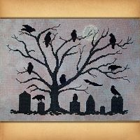 """The Mourning Tree"" Cross Stitch Pattern"