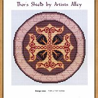 Thor's Shield Cross Stitch Pattern - Counted Cross Stitch Patterns - Celtic Patterns, Pagan Patterns, Fantasy Patterns and more, Pentacles, Moons & Stars