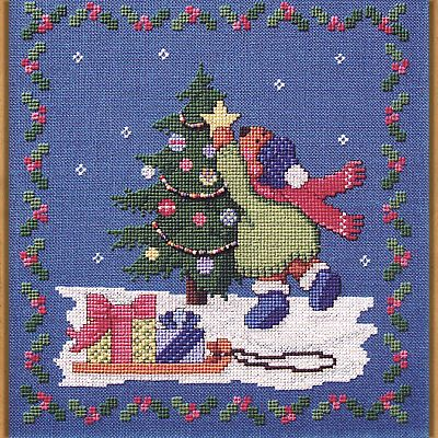 """To Trim a Tree"" Cross Stitch Pattern"