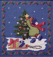 """To Trim a Tree"" Cross Stitch Pattern - Counted Cross Stitch Patterns - Celtic Cross Stitch Patterns, Pagan Cross Stitch Patterns, Fantasy Cross Stitch Patterns and more, Here Be Dragons!"