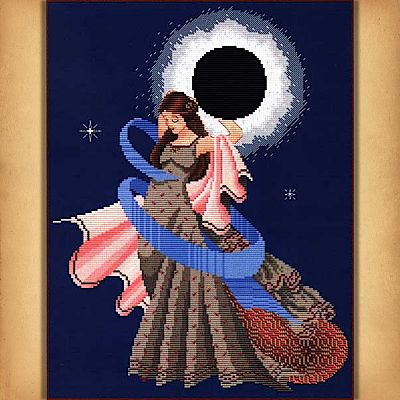 Dance of the Total Eclipse Cross Stitch Pattern