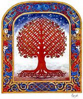 Tree of Creation Cross Stitch Pattern
