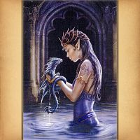 Water Dragon Cross Stitch Pattern - Counted Cross-stitch Patterns - Celtic, Pagan, Wiccan, Goddess, Fantasy and more, Here Be Dragons!