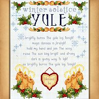 Wheel of the Year Series: Yule Cross Stitch Pattern
