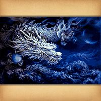 White Dragon Cross Stitch Pattern
