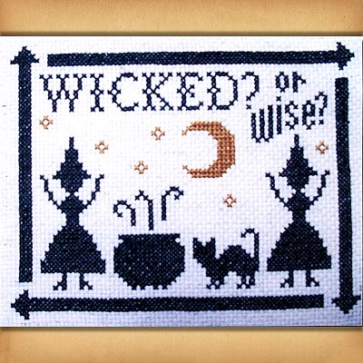 """Wicked?"" Cross Stitch Pattern"
