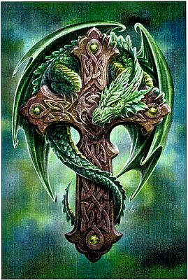 Woodland Guardian Cross Stitch Pattern - Counted Cross Stitch Patterns - Celtic Patterns, Pagan Patterns, Fantasy Patterns and more, Here Be Dragons!