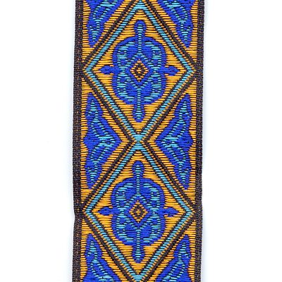 Royal Blue, Turquoise, and Copper Diamonds Trim