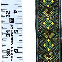 Green, Yellow, and Metallic Gold Geometric Trim - Trim
