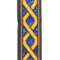 Metallic Blue and Non-metallic Copper Diamonds Trim