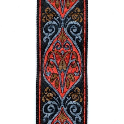Red, Blue, Brown, and Black Floral Trim