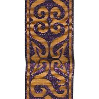 Copper and Metallic Purple Arabesque Trim