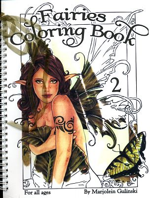 Fairies coloring book for adults: an adult coloring book of 40 ...